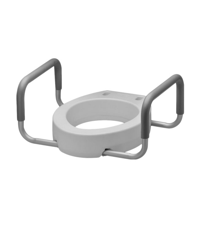 4 inch Raised Toilet Seat with Arms - Bathroom Aids
