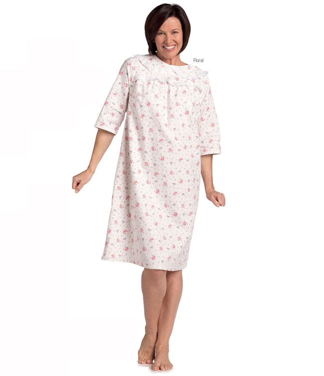 Women's Soft Flannel Night Gown - Bibs and Gowns