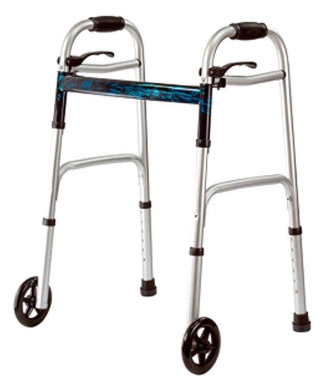 Wheelchairs, Walkers and Accessories -  Folding Walker